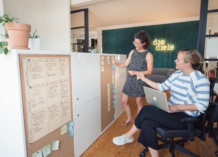 Feste Arbeitsplätze mit 24h-Zugang und eigenen Schränken